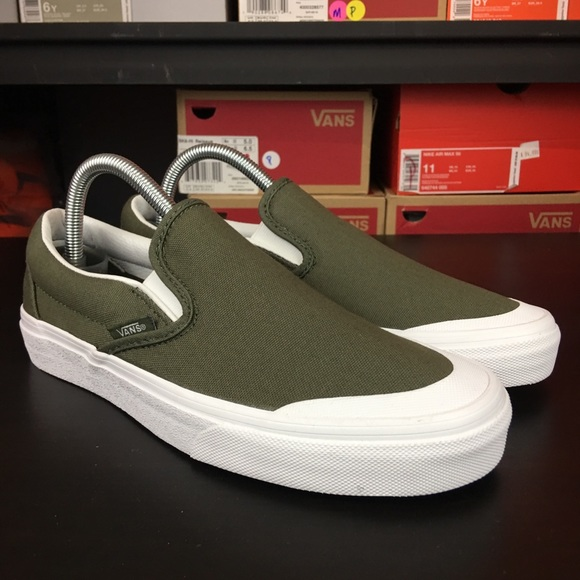 ea127f2fef9 Vans Classic Slip On 138 Canvas Grape Leaf Olive
